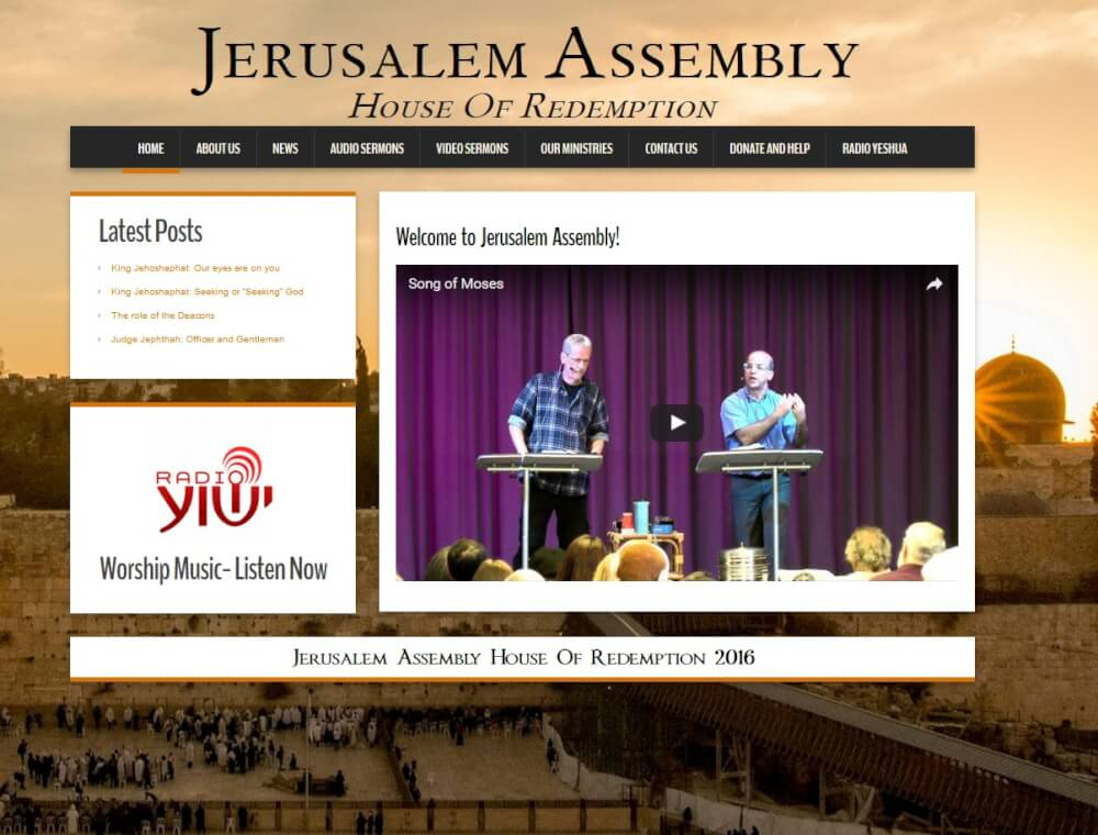 Homepage der Jerusalem Assembly